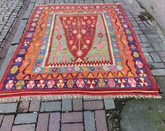 Vintage Turkish kilim from Anatolia
