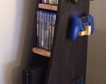 Vertical rack for consoles PS4 XBOX WII etc... Wood solid