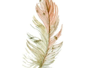 Feather Clipart, Boho CLipart