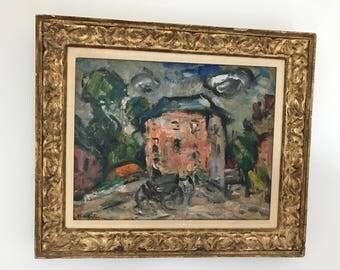 Antique Oil painting by Abel Bertram