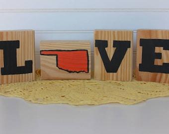 LOVE Decorative Blocks-Oklahoma State