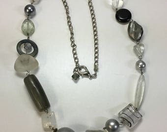 Necklace in grays