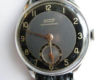 Exquisite & Rare Vintage TISSOT Military Watch ANTIMAGNETIQUE WWII