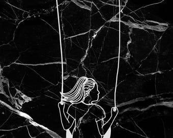Marble swing girl