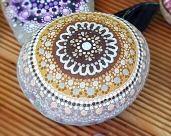 Gift trend mandala of 'Karma' dot stone stone