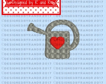 """Small Watering Can Embroidery Design 1.25"""" by 1""""   **Digital Download Only**   Embroidery Design   Watering Can Embroidery Design   Spring"""