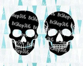 Skull head silhouette SVG, Skull SVG, Skull Head SVG, Skeleton Svg, Skullhead Svg, Instant download, Skull Clipart, Eps - Dxf - Png - Svg