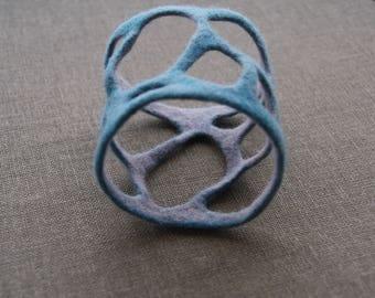 Wool felted bracelet