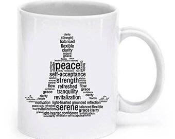 Lotus Position Word Yoga mug, Gifts For Yoga Lovers, Yoga Mug, Yoga  Coffee Mug, Yoga gift, gifts for Yoga girl