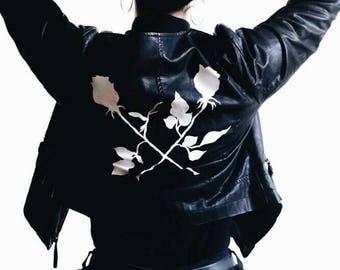 Crossed Roses Leather Jacket Custom Made (1of1)