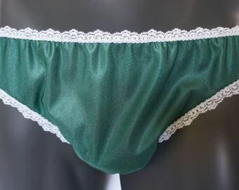 Men's TRICOT Bikini Underwear * White Stretch Lace