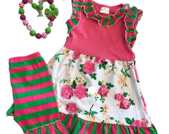 Floral 'Watermelon' two peice outfit!
