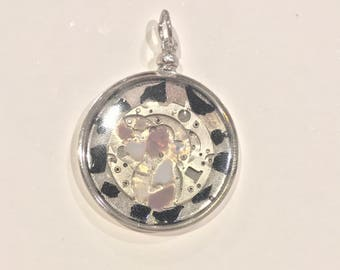 Resin Clockwork Pendant