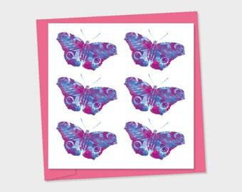 butterflies x 6 same colour