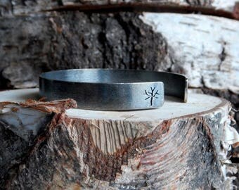 Trees Cuff Bacelet - Oxidized Sterling Silver Bracelet - Nature Inspired Jewelry - Perfect Gift