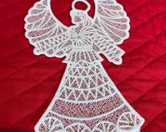 Lace Angel Ornament