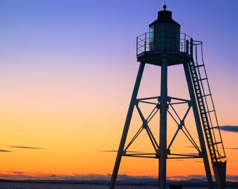 sunset photography lighthouse landscape prints