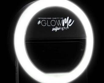 GlowMe LED Selfie Ring Light for Smartphones (Black)