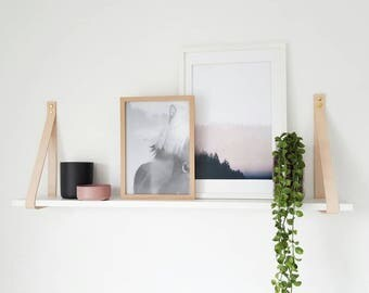 Medium Leather Shelf