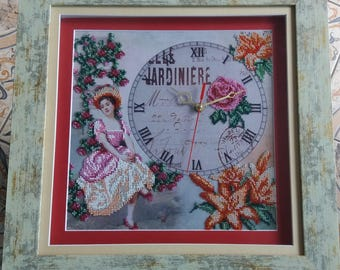 Часы, clock Hand Made, clock beaded
