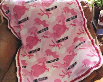 Nascar Baby Girl Blanket