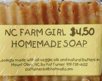 Homemade soap, vegan, shea butter, cocoa butter, moisturizing, fragrance, bar soap, hot process