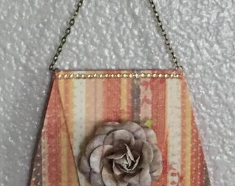 Paper Purse with Rosette
