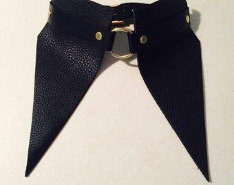 SAMPLE SALE! Leather shirt collar