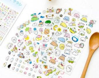 6 leaves Mamegoma stickers super kawaii!