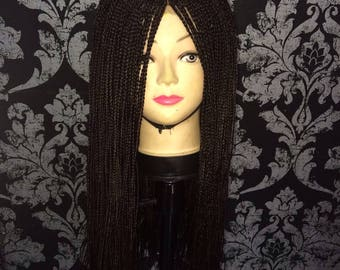 Chocolate Brown Handmade African Braided Wig