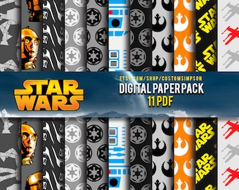 Star Wars Digital Paper Pack --- 95% Off SALE  OFFER