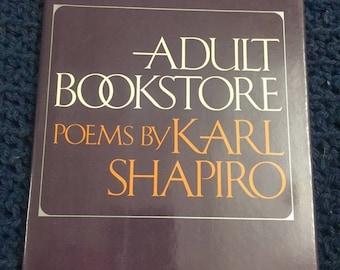 Karl Shapiro ADULT BOOKSTORE Random House First Edition 1976