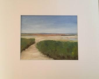 Original Oil Painting, First Encounter Beach
