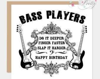 Bass Player Birthday Card
