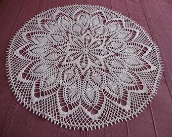 """Round crochet doily """"Anne"""""""