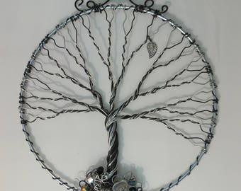 Tree of Life decor, Tree of Life Sun Catcher,Tree of Life Earring  Display,Jewelry display, Love Tree of Life, Heart Charms, Living Room Dec