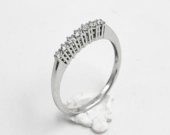 18kt white Gold Ring with diamonds, handcrafted