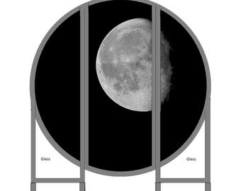 "Round folding Screen ""Moon"""