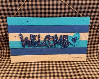 Welcome - Barn wood Sign
