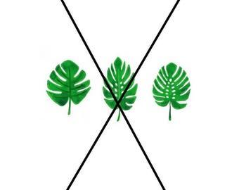 Printable cute palm leaves
