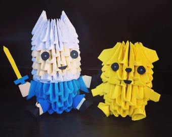 Finn and Jake 3D Origami