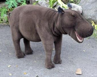 Realistic stuffed hippo
