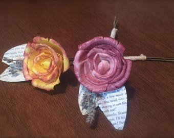 SET OF 3 Single Stem Sola Wood Rose