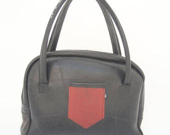 Nero - Hand/Shoulderbag, Recycled Rubber