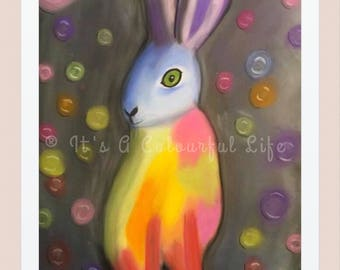 Hare Print (FREE POSTAGE UK)