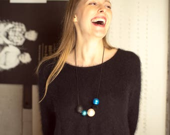 MUSTIKAbyAK necklace #winterskyMUSTIKAS
