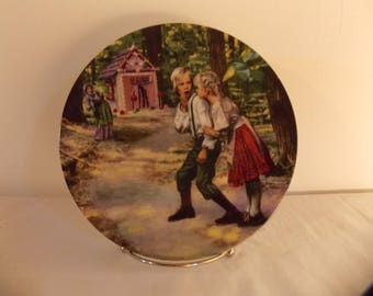 Grimms Fairy Tales Gehm Collector Plate Hansel & Gretel West Germany 1981 VTG