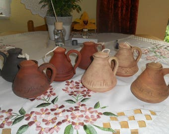 Slavic oil lamps, based off of archeological funds