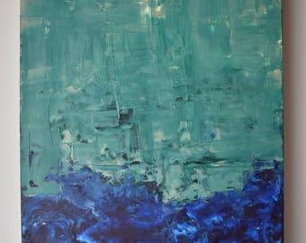 11x14 encaustic painting
