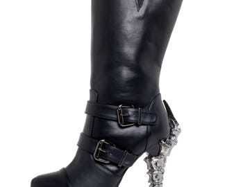 Hades goth steampunk heavy metal boot